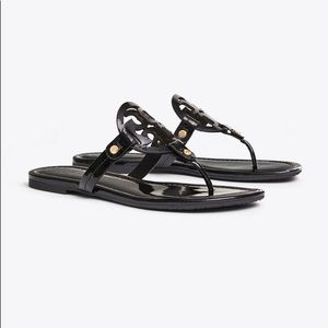 Tory Burch Miller Sandals Black Patent